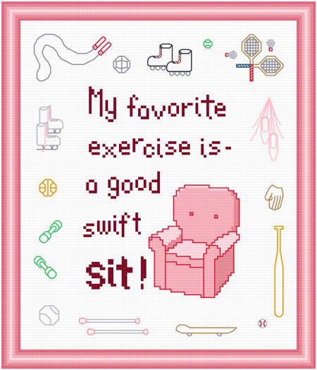 cross stitch pattern Favorite Exercise - Her