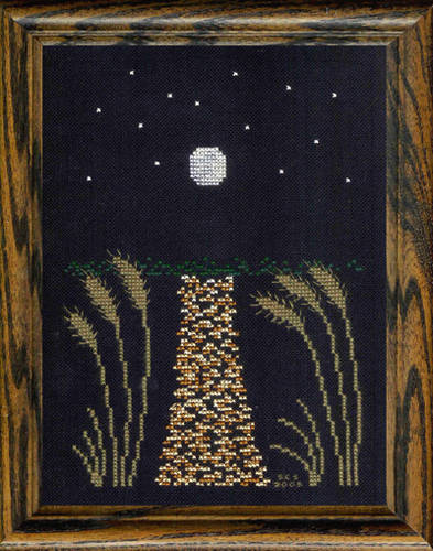 cross stitch pattern Full Moon Over the Bay
