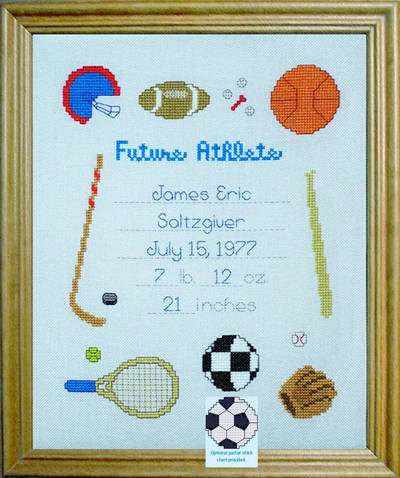 cross stitch pattern Future Athlete