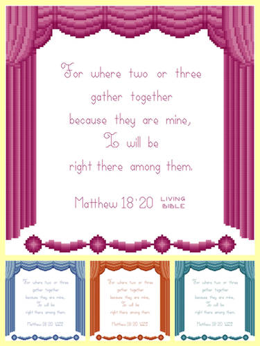 cross stitch pattern Gather Together