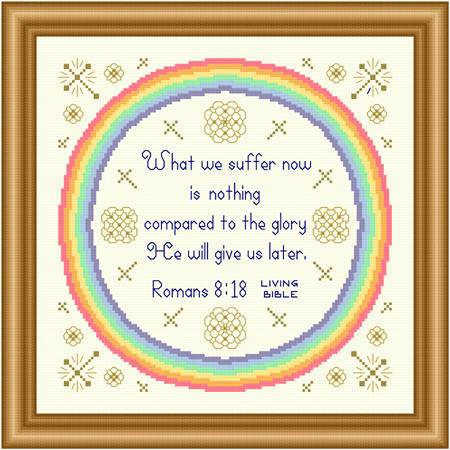 cross stitch pattern Glory He Will Give Us