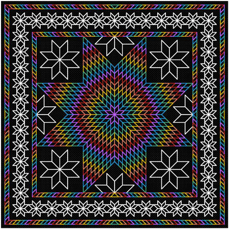 Glowing Lone Star Cross Stitch Pattern Quilts