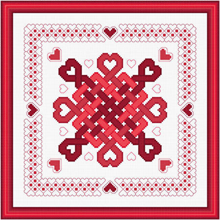 cross stitch pattern Hearts Abound