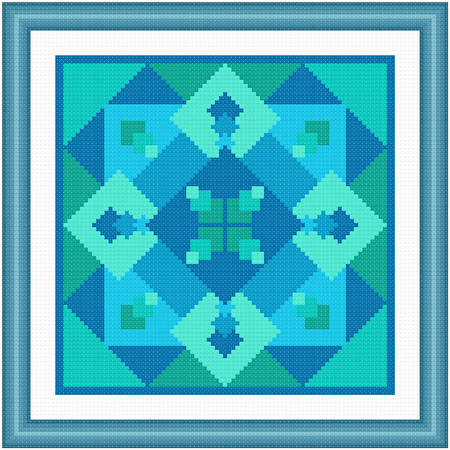 cross stitch pattern Immerse