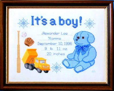 cross stitch pattern It's A Boy!