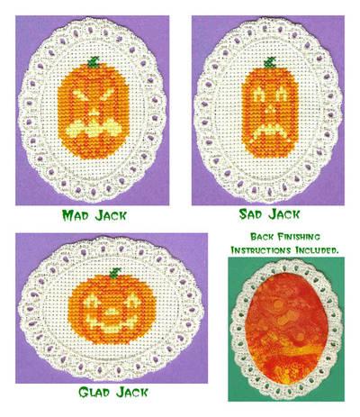 cross stitch pattern Jack-O-Lanterns
