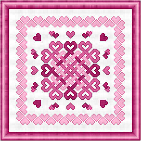 cross stitch pattern Love Knots