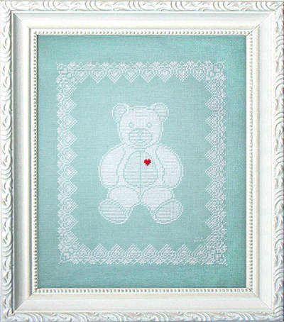 cross stitch pattern Lace Teddy