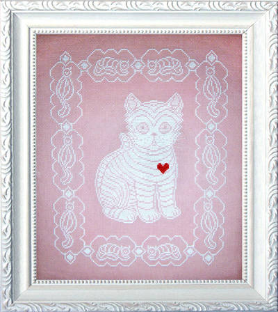 cross stitch pattern Lace Kitten