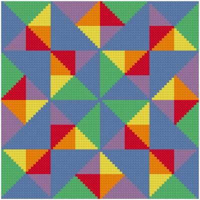 cross stitch pattern Many Facets