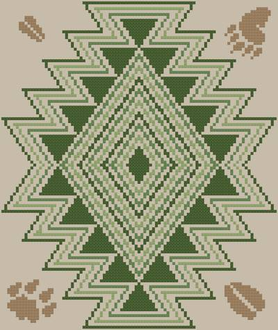cross stitch pattern Mountain Trails