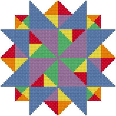 cross stitch pattern Multiple Points