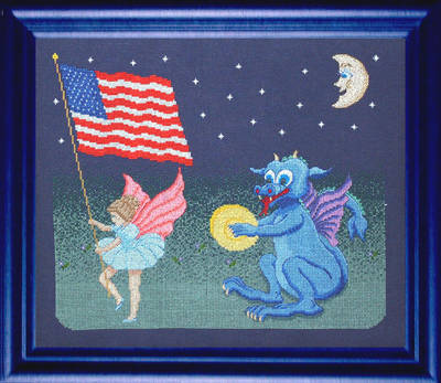 cross stitch pattern Parade - Dragons and Fairies