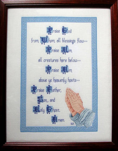 cross stitch pattern Praise God