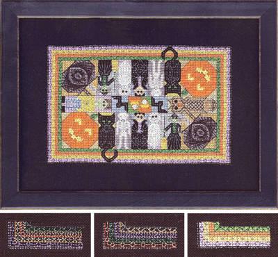cross stitch pattern Razzle Dazzle Halloween Quilt