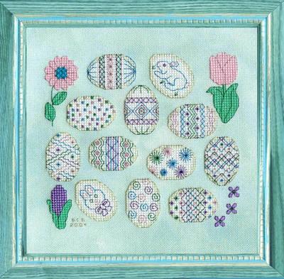cross stitch pattern Decorated Dozen
