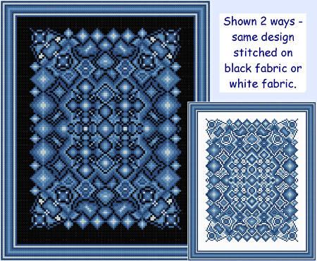 cross stitch pattern Sapphire