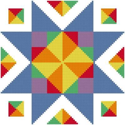 cross stitch pattern Simple Star - Enhanced