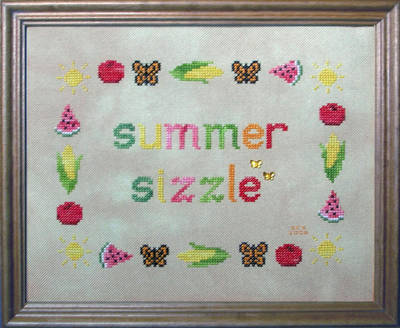 cross stitch pattern Summer Sizzle