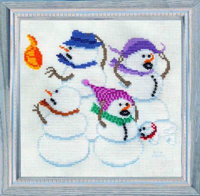 cross stitch pattern Hat Snatching Wind Storm