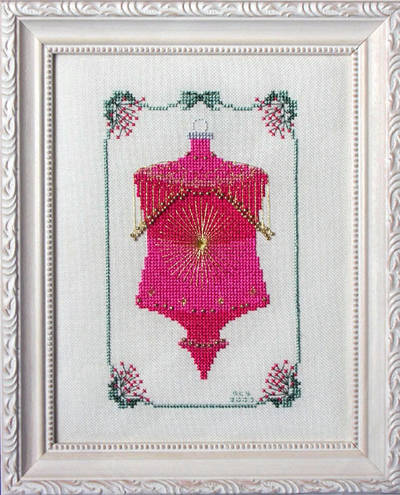 cross stitch pattern Sparkling Christmas Ornament