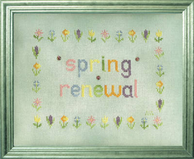 cross stitch pattern Spring Renewal