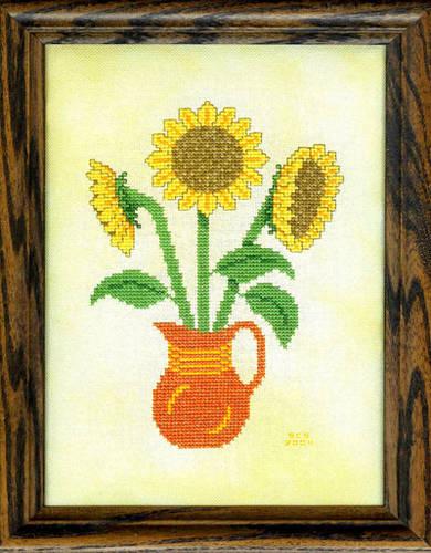 cross stitch pattern Sensational Sunflowers