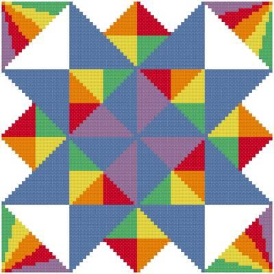 cross stitch pattern Susan's Star