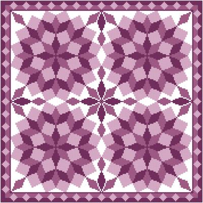 cross stitch pattern Jumbled Tumbling Blocks