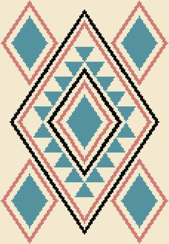 cross stitch pattern Turquoise Delight