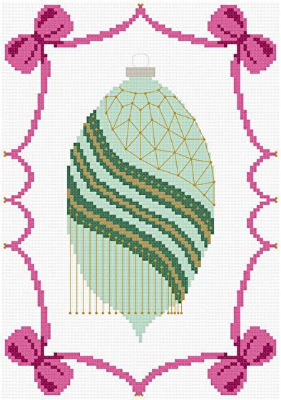 cross stitch pattern Victorian Christmas Ornament