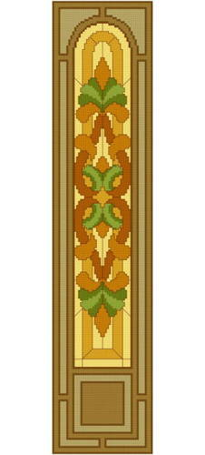 cross stitch pattern Stained Glass Window