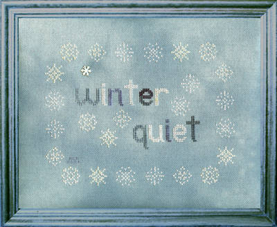cross stitch pattern Winter Quiet