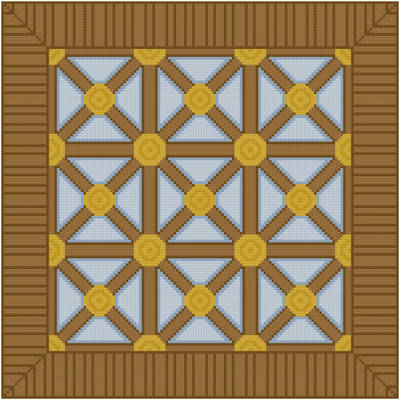 cross stitch pattern Wood Over Glass