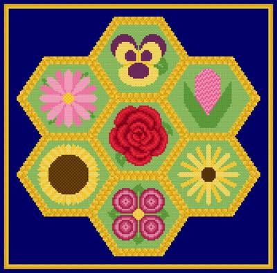 cross stitch pattern Blooming Posies
