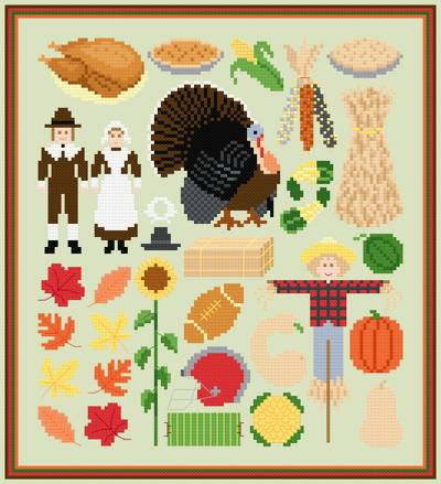 cross stitch pattern Autumn Image Collection