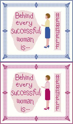 cross stitch pattern Behind Every Successful Woman