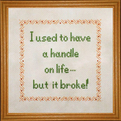 cross stitch pattern Broken Handle on Life