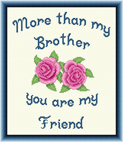 cross stitch pattern Brother - Friend