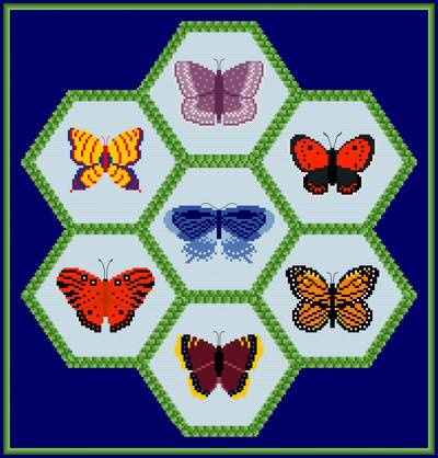 cross stitch pattern Butterflies