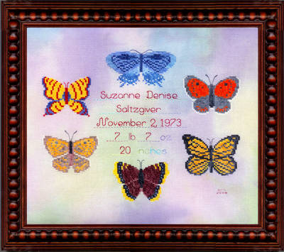 cross stitch pattern Butterfly Blessings