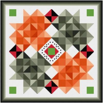 cross stitch pattern Fox Chase