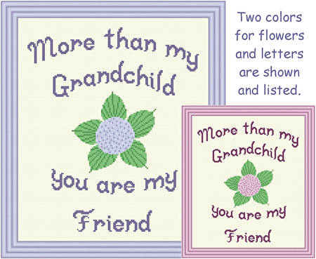 cross stitch pattern Grandchild - Friend