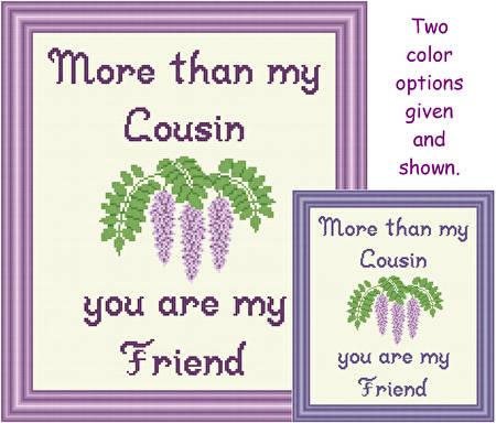 cross stitch pattern Cousin - Friend