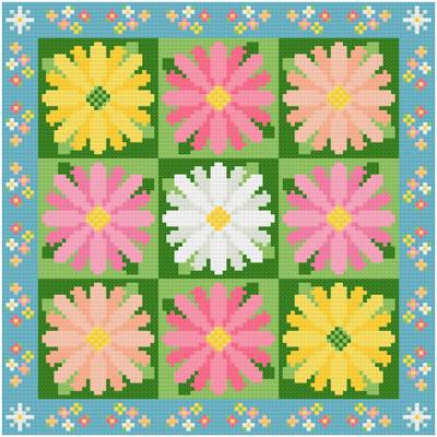 cross stitch pattern Daisies