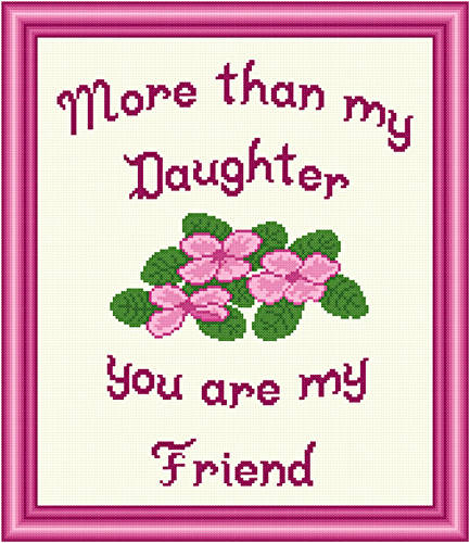 cross stitch pattern Daughter - Friend