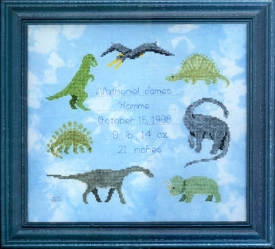 cross stitch pattern Dinosaur Dreams