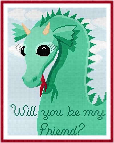 cross stitch pattern Will You Be My Friend