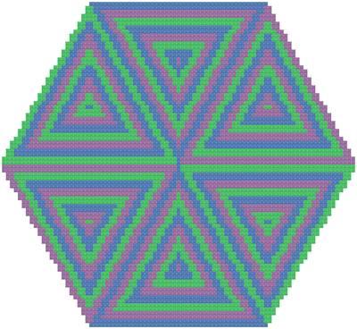 cross stitch pattern Echoes