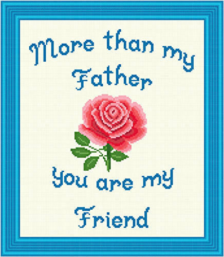 cross stitch pattern Father - Friend